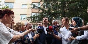 Ekrem İmamoğlu Sarıyer'deki riskli binada incelemelerde bulundu