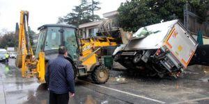 Emirgan'da yürekleri ağza getiren kaza