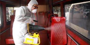 Sarıyer'de her yer dezenfekte ediliyor