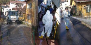 Sarıyer'in tüm mahalleleri ilaçlı su ile yıkanıyor