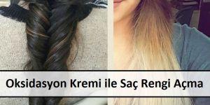 Oksidasyon Kremi ile Saç Rengi Açma