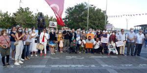 Sarıyer'de 'Kadına Şiddete Hayır' eylemi