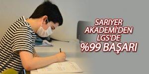 Sarıyer Akademi'den LGS'de %99 başarı