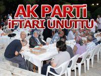 AK Parti Rumelihisarı iftarını UNUTTU