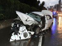 Sarıyer emniyeti kazada kaçan kamyoneti buldu
