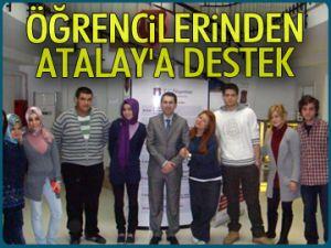 Öğrencilerinden Atalay'a destek