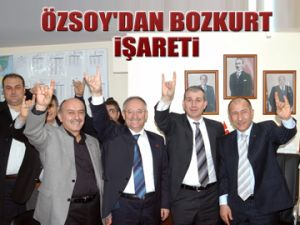 Özsoy'dan 'Bozkurt' işareti