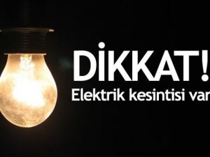 Pınar'da elektrik kesintisi