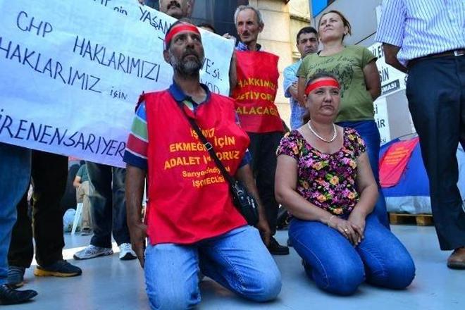 Sarıyer Belediyesi işçileri açlık grevinde!