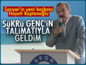 Sarıyer'in yeni başkanı Kaptanoğlu