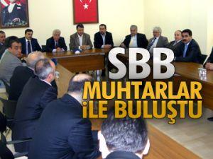 SBB muhtarlar ile buluştu
