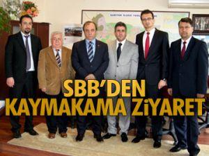 SBB'den kaymakama ziyaret