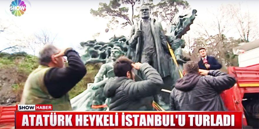 Dev Atatürk heykeline Sarıyerlilerden yoğun ilgi