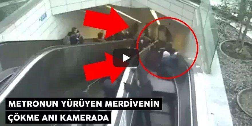 Maslak metrosundaki çökme anı saniye saniye görüntülendi